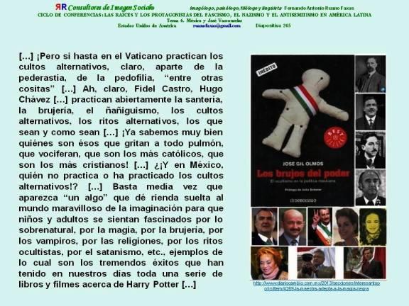 FERNANDO ANTONIO RUANO FAXAS. CATOLICISMO, CRISTIANISMO, SINCRETISMO, SANTERÍA, CULTOS ALTERNATIVOS, RITOS ALTERNATIVOS, EN AMÉRICA, EN MÉXICO, LOS BRUJOS DEL PODER, LA SANTERÍA ENTRE LOS POLÍTICOS DE MÉXICO