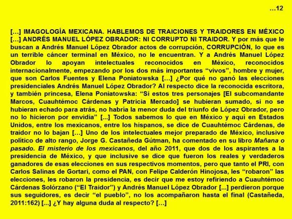 FERNANDO ANTONIO RUANO FAXAS. IMAGOLOGÍA. Traiciones y traidores en México. Andrés Manuel López Obrador, ni corrupto ni traidor. Cuauhtémoc Cárdenas, PRD, elecciones, Morena. AYOTZINAPA
