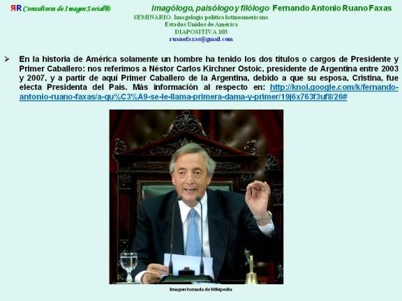 FERNANDO ANTONIO RUANO FAXAS. NÉSTOR KIRCHNER