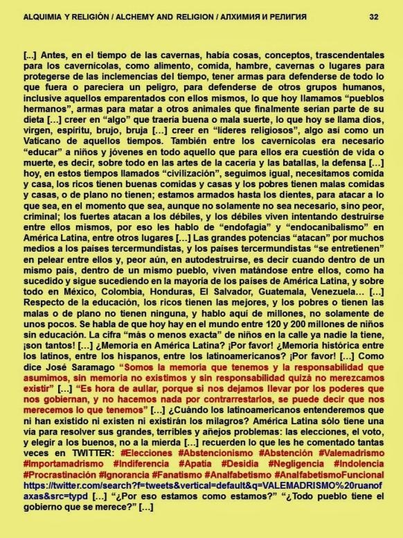 FERNANDO ANTONIO RUANO FAXAS. PAISOLOGÍA, IMAGOLOGÍA. ALQUIMIA Y RELIGIÓN. ALCHEMY AND RELIGION. АЛХИМИЯ И РЕЛИГИЯ. MEMORIA HISTÓRICA, SARAMAGO, ELECCIONES, CORRUPCIÓN, IMPUNIDAD