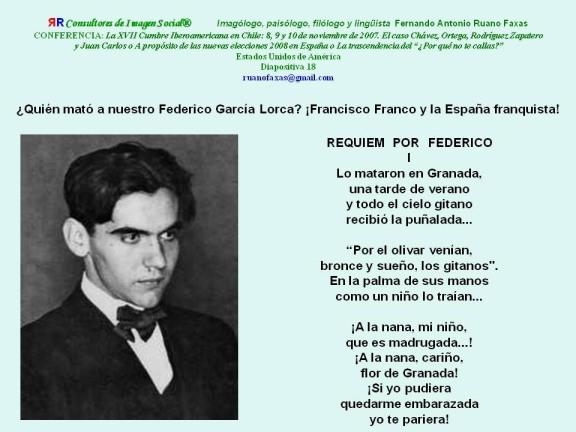 RUANO FAXAS. FEDERICO GARCÍA LORCA