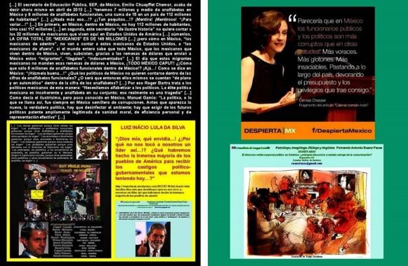 D. DRESSER, R. BARTRA, CORRUPCIÓN, ANALFABETISMO, MÉXICO, CANTINFLEAR. Necesitamos alfabetizar a los políticos. La élite política mexicana es incoherente y analfabeta en su conjunto; eso realmente es una tragedia