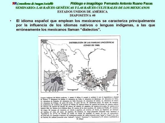 FERNANDO ANTONIO RUANO FAXAS. INFLUENCIA DE LENGUAS INDÍGENAS EN EL ESPAÑOL HABLADO Y ESCRITO EN MÉXICO. GRUPOS INDÍGENAS MEXICANOS, MESTIZAJE, RACISMO Y SEGREGACIÓN A TRAVÉS DE IDIOMAS, DIALECTOS Y GESTOS