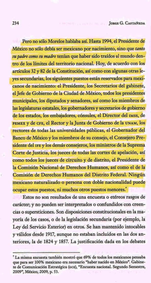 FERNANDO ANTONIO RUANO FAXAS. LIBRO DE JORGE G. CASTAÑEDA. A MÉXICO LO HAN DESTRUDIO LOS POLÍTICOS Y DIRIGENTES MEXICANOS Y TODO EL PUEBLO QUE LOS ELIGE DENTRO DE MÉXICO Y AQUÍ EN ESTADOS UNIDOS DE AMÉRICA