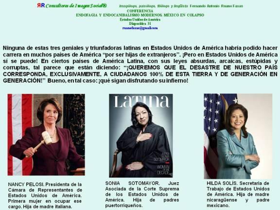 FERNANDO ANTONIO RUANO FAXAS. MUJERES LATINAS TRIUNFADORAS EN U.S.A. NANCY PELOSI, SONIA SOTOMAYOR, HILDA RODRÍGUEZ