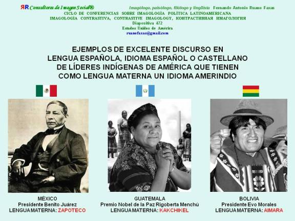 RUANO FAXAS. BENITO JUÁREZ, RIGOBERTA MENCHÚ Y EVO MORALES