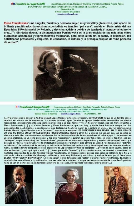 FERNANDO ANTONIO RUANO FAXAS. CARLOS FUENTES КАРЛОС ФУЭНТЕС, ELENA PONIATOWSKA ЭЛЕНА ПОНЯТОВСКА Y GUADALUPE LOAEZA ГУАДАЛУПЕ ЛОАЕЗА SON SEGUIDORES DE LÓPEZ OBRADOR, AMLO. ELECCIONES EN MÉXICO