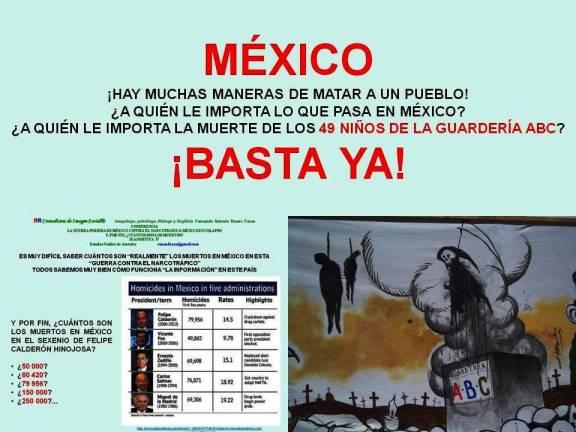 FERNANDO ANTONIO RUANO FAXAS. A QUIÉN LE IMPORTA LO QUE PASA EN MÉXICO, A QUIÉN LE IMPORTA LA MUERTE DE LOS 49 NIÑOS DE LA GUARDERÍA ABC