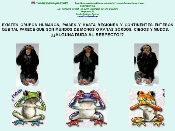 RUANO FAXAS. MONOS Y RANAS
