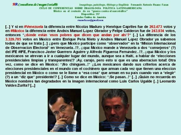 FERNANDO ANTONIO RUANO FAXAS. MÉXICO, VENEZUELA, INSTITUTO FEDERAL ELECTORAL IFE, FRANCISCO JAVIER GUERRERO AGUIRRE, ALFREDO FIGUEROA FERNÁNDEZ, LUIS CARLOS UGALDE, LEONARDO VALDÉS ZURITA