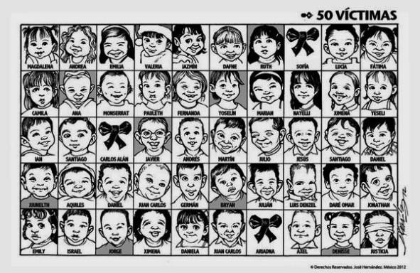 49 NIÑOS FUERON QUEMADOS VIVOS EN MEXICO, HERMOSILLO, SONORA, GUARDERÍA ABC