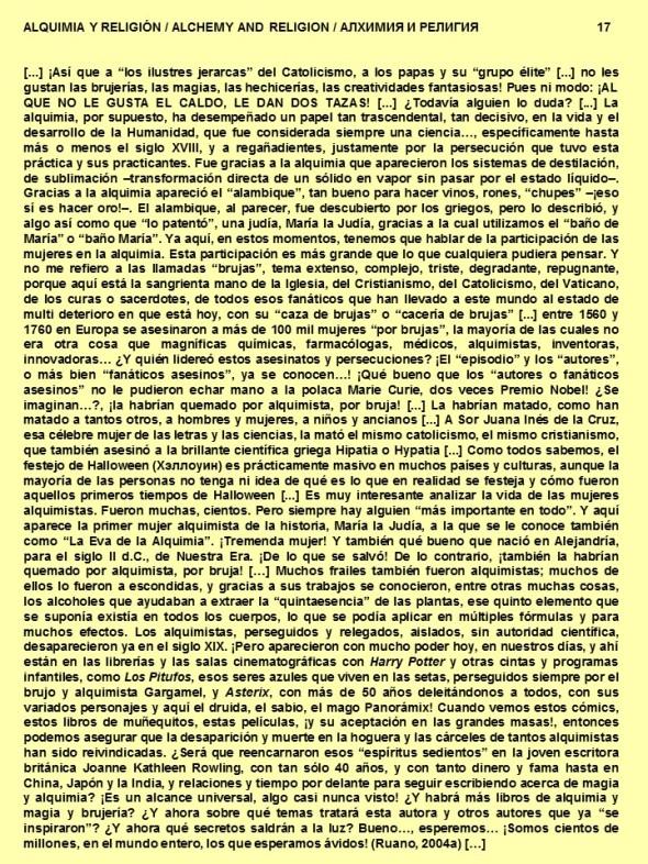 FERNANDO ANTONIO RUANO FAXAS. ALQUIMIA Y RELIGIÓN, ALCHEMY AND RELIGION, АЛХИМИЯ И РЕЛИГИЯ