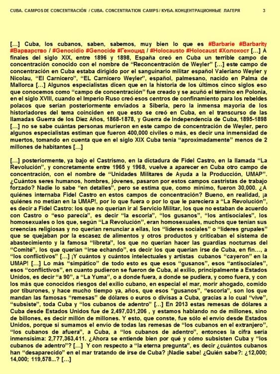FERNANDO ANTONIO RUANO Faxas. CUBA, CAMPOS DE CONCENTRACIÓN. CUBA, Campos de Concentración. Cuba, Los Campos de Concentración