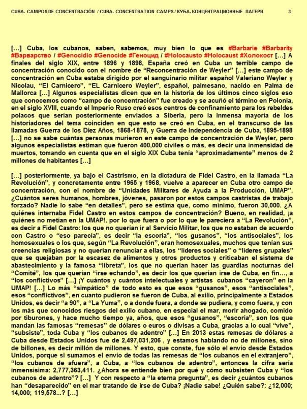 FERNANDO ANTONIO RUANO FAXAS. CUBA, CAMPOS DE CONCENTRACIÓN. CUBA, CONCENTRATION CAMPS. КУБА, КОНЦЕНТРАЦИОННЫЕ ЛАГЕРЯ