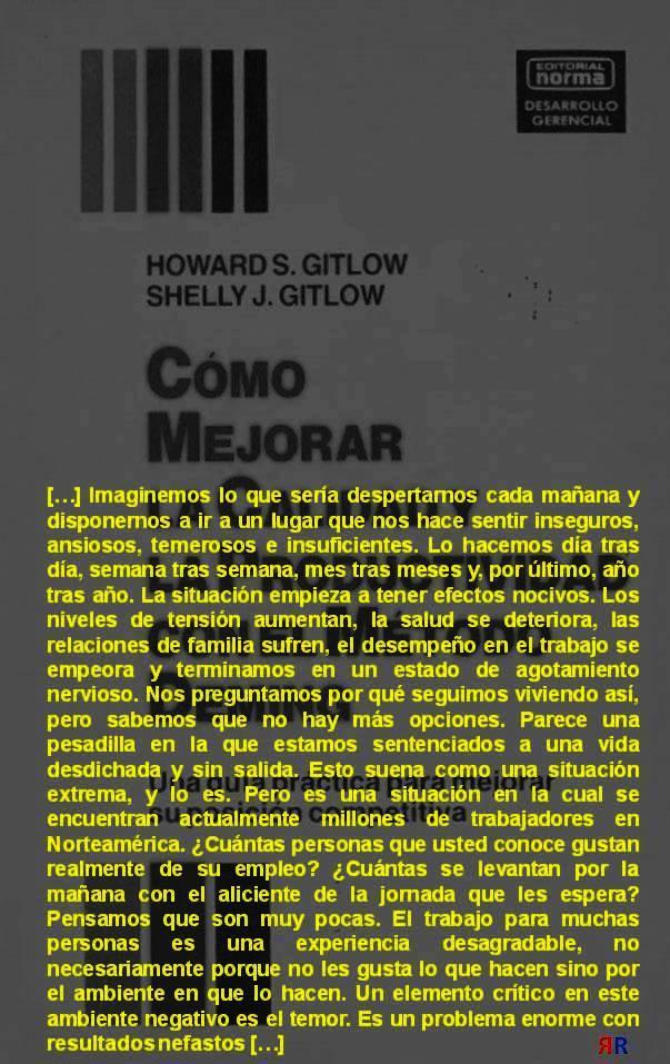 FERNANDO ANTONIO RUANO FAXAS. Howard S. Gitlow y Shelly J. Gitlow. Cómo mejorar la calidad y la productividad con el método Deming. Una guía práctica para mejorar su posición