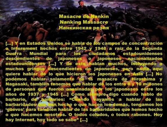 FERNANDO ANTONIO RUANO FAXAS. IMAGOLOGÍA, PAISOLOGÍA, CAMPO DE CONCENTRACIÓN, CAMPOS DE CONCENTRACIÓN. Masacre de Nankín, Nanking Massacre, Нанкинская резня