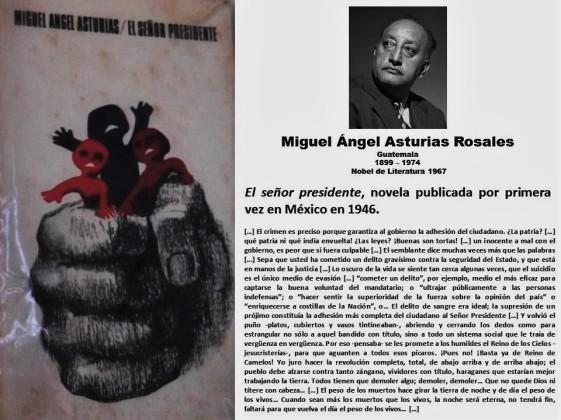 FERNANDO ANTONIO RUANO FAXAS. PAISOLOGÍA, IMAGOLOGÍA, LITERATURA, ELECCIONES, DICTADURAS, DICTADORES. Miguel Ángel Asturias Rosales, El señor presidente. Guatemala.
