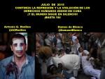 JULIO DE 2015. CONTINÚA LA REPRESIÓN Y LA VIOLACIÓN DE LOS DERECHOS HUMANOS EN CUBA. Antonio G. Rodiles, Damas de Blanco. Disidencia, oposición, disidentes,opositores