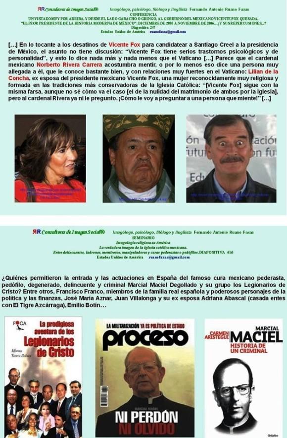 PEDERASTIA,PEDOFILIA, MÉXICO,IGLESIA CATÓLICA,CATOLICISMO, VATICANO,NORBERTO RIVERA CARRERA, MARCIAL MACIEL, LEGIONARIOS DE CRISTO, VICENTE FOX, MARTHA SAHAGÚN, MAMÁ ROSA, ROSA DEL CARMEN VERDUZCO, LA GRAN FAMILIA