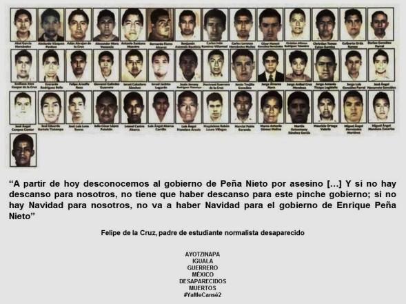AYOTZINAPA, IGUALA, GUERRERO, MEXICO. Si no hay Navidad para nosotros, no va a haber Navidad para el gobierno de Enrique Peña Nieto