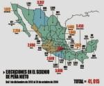 ENRIQUE PEÑA NIETO, PRI. LOS 23 MESES DE EPN  41,015 HOMICIDIOS DOLOSOS. MEXICO, IGUALA, AYOTZINAPA, GUERRERO, MUERTOS, DESAPARECIDOS, CRIMEN DE ESTADO, ESTADO FALLIDO, MEXICO ENCOLAPSO