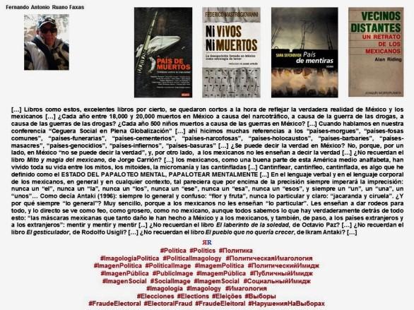FERNANDO ANTONIO RUANO FAXAS. Imagología, Imagology, Имагология. México, Méjico, Mexiko, Mexique, Мексика