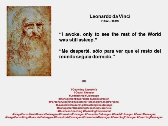 FERNANDO ANTONIO RUANO FAXAS. IMAGOLOGÍA. LEONARDO DA VINCI. I awoke, only to see the rest of the World was still asleep. Me desperté, sólo para ver que el resto del mundo seguía dormido