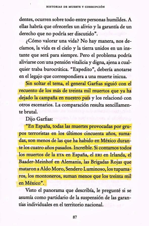 FERNANDO ANTONIO RUANO FAXAS.POR TERRORISMO EN MÉXICO MÁS MUERTOS QUE EN ESPAÑA.JULIO SCHERER. HISTORIAS DE MUERTE Y CORRUPCIÓN