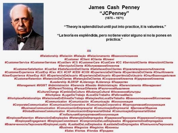 PAULINA RENDON AGUILAR. James Cash Penney, JCPenney. Theory is splendid but until put into practice, it is valueless. La teoría es espléndida, pero no tiene valor alguno si no la pones en práctica.