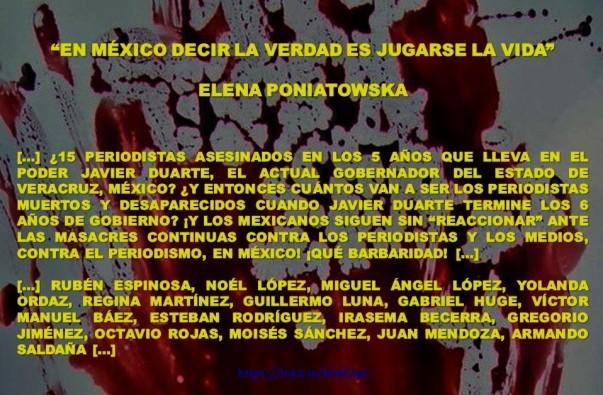FERNANDO ANTONIO RUANO FAXAS. IMAGOLOGÍA, MÉXICO, PERIODISMO, MEDIOS. PERIODISTAS MUERTOS Y DESAPARECIDOS EN VERACRUZ EN EL GOBIERNO DE JAVIER DUARTE. IMPUNIDAD, CORRUPCION, ELECCIONES