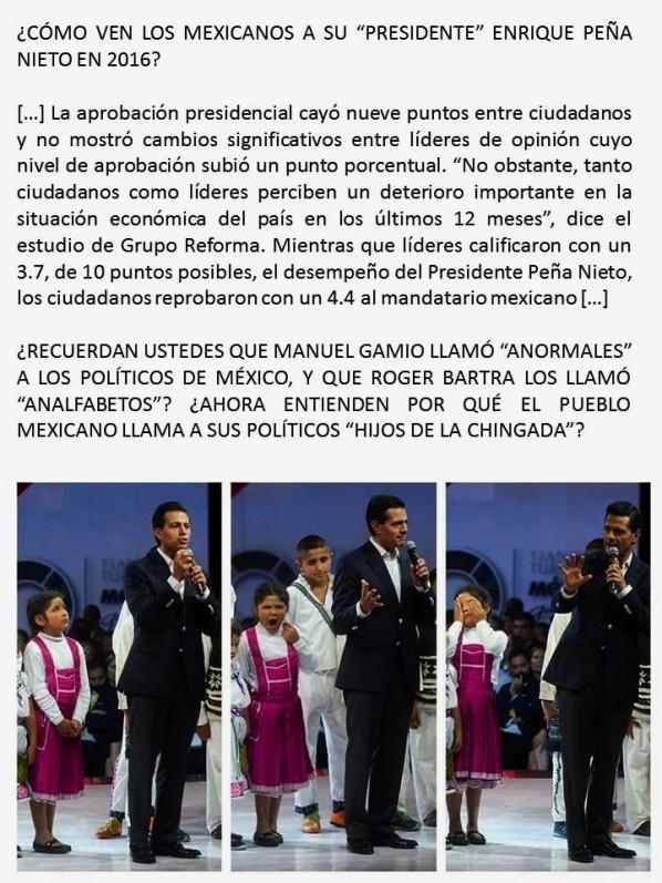 MÉXICO, ELECCIONES, LOS MEXICANOS NO QUIEREN AL PRI NI A ENRIQUE PEÑA NIETO. INDICE DE ACEPTACIÓN. MUERTOS, DESAPARECIDOS, NARCOTRAFICO, LAVADO DE DINERO, DERECHOS HUMANOS