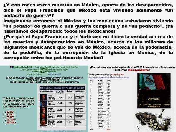 Papa, Pope, Папа. Vaticano, Vatican, Ватикан. México, Méjico, Мексика. MUERTOS, DESAPARECIDOS, MIGRACIÓN, MIGRANTES, NIÑOS, PEDERASTIA, PEDOFILIA, CORRUPCIÓN, IMPUNIDAD, ELECCIONES, POLITICOS