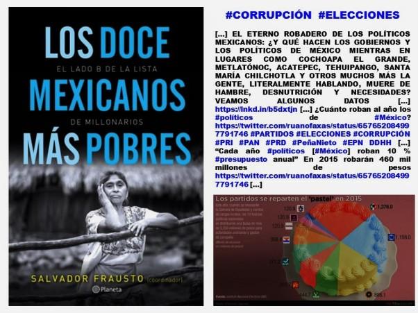 SALVADOR FRAUSTO.LOS DOCE MEXICANOS MÁS POBRES.EL LADO B DE LA LISTA DE MILLONARIOS.MÉXICO,POBREZA,INDICE DE DESARROLLO HUMANO,POLÍTICOS,ELECCIONES,CORRUPCIÓN,IMAGOLOGÍA,FERNANDO ANTONIO RUANO FAXAS