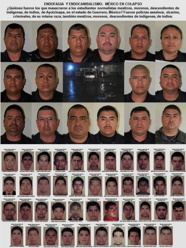 ENDOFAGIA Y ENDOCANIBALISMO. MÉXICO EN COLAPSO. Quiénes fueron los que masacraron a los estudiantes normalistas mestizos, morenos, descendientes de indígenas, de indios, de Ayotzinapa. IMAGOLOGÍA