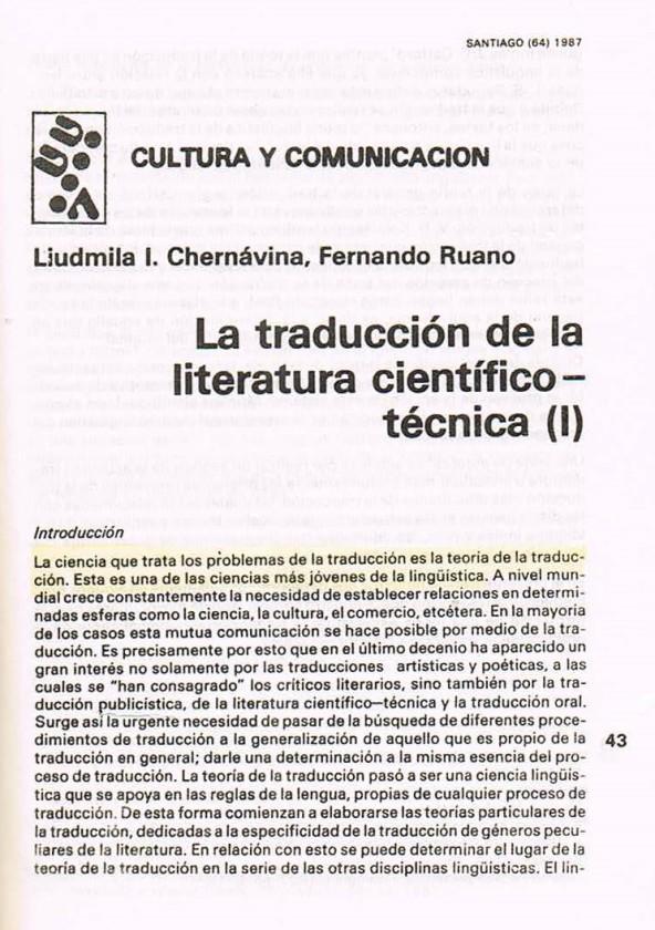 Fernando Antonio Ruano Faxas.TRADUCCIÓN DE LITERATURA CIENTÍFICA Y TÉCNICA.TRANSLATION,TRADUÇÃO,ПЕРЕВОД.Lingüística,Filología,Imagología. 1
