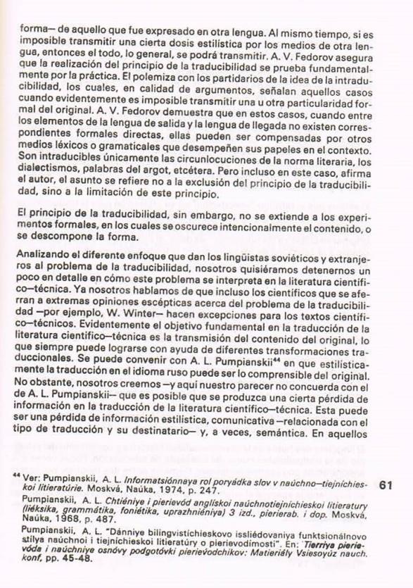 Fernando Antonio Ruano Faxas.TRADUCCIÓN DE LITERATURA CIENTÍFICA Y TÉCNICA.TRANSLATION,TRADUÇÃO,ПЕРЕВОД.Lingüística,Filología,Imagología. 19