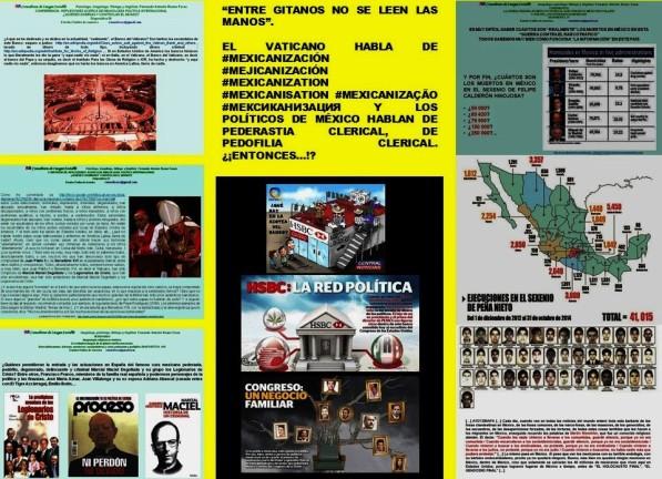 """IMAGOLOGÍA. ENTRE GITANOS NO SE LEEN LAS MANOS"""". EL VATICANO, EL PAPA FRANCISCO HABLA DE MEXICANIZACIÓN Y LOS POLÍTICOS DE MÉXICO HABLAN DE PEDERASTIA PEDOFILIA CLERICAL"""