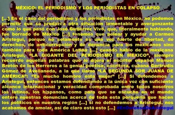 FERNANDO ANTONIO RUANO FAXAS. IMAGOLOGÍA. MÉXICO, EL PERIODISMO Y LOS PERIODISTAS EN COLAPSO. CARMEN ARISTEGUI, JOSÉ GUTIÉRREZ VIVÓ, PERIODISMO, PERIODISTAS, CORRUPCIÓN, IMPUNIDAD, CENSURA, MEXICANIZACIÓN, AYOTZINAPA