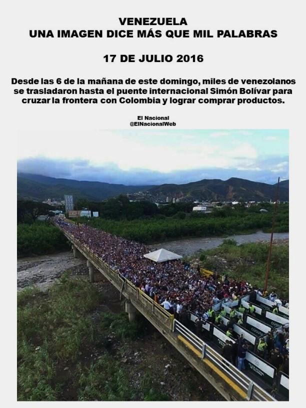 MILES DE VENEZOLANOS CRUZAN A COLOMBIA A BUSCAR COMIDA. VENEZUELA, MADURO, CHAVISMO, DICTADURA, TIRANÍA, ELECCIONES, HAMBRE, ESCASEZ, REPRESIÓN, CENSURA