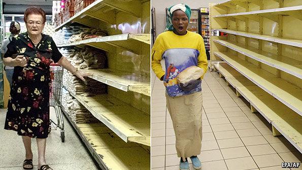 Nicolás Maduro, Chavismo, chavistas, venezolanos, elecciones. Venezuela como Zimbabue, Zimbabwe, en África. Hambre, desabasto, escasez, dictadura