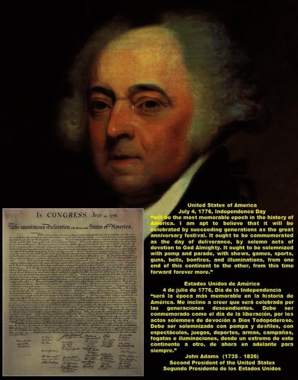 PAULINA RENDON AGUILAR. IBM, KENNAMETAL, JCPENNEY. United States of America, July 4, 1776, Independence Day. Estados Unidos de América, 4 de julio de 1776, Día de la Independencia
