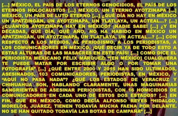 FERNANDO ANTONIO RUANO FAXAS. CONFERENCIA. MEXICO, IMAGOLOGÍA, PAISOLOGÍA, PERIODISMO, LITERATURA, PERIODISTAS, ESCRITORES, CORRUPCIÓN, IMPUNIDAD, PEÑA NIETO, PRI, POLÍTICA, ELECCIONES, RUBÉN ESPINOSA