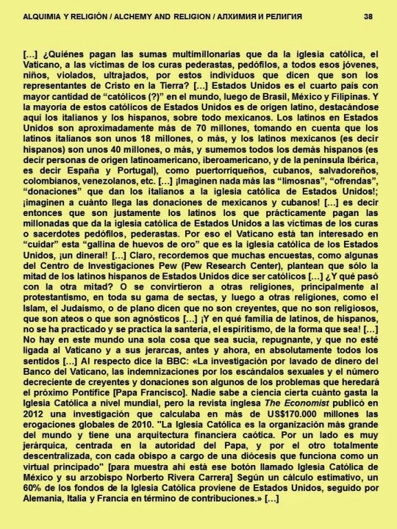 FERNANDO ANTONIO RUANO FAXAS. IMAGOLOGÍA. ALQUIMIA Y RELIGIÓN. LATINOS, HISPANOS, OFRENDAS Y DONACIONES PAGAN MILLONES QUE DA IGLESIA A VICTIMAS DE CURAS, SACERDOTES PEDERASTIA, PEDOFILIA. VATICANO