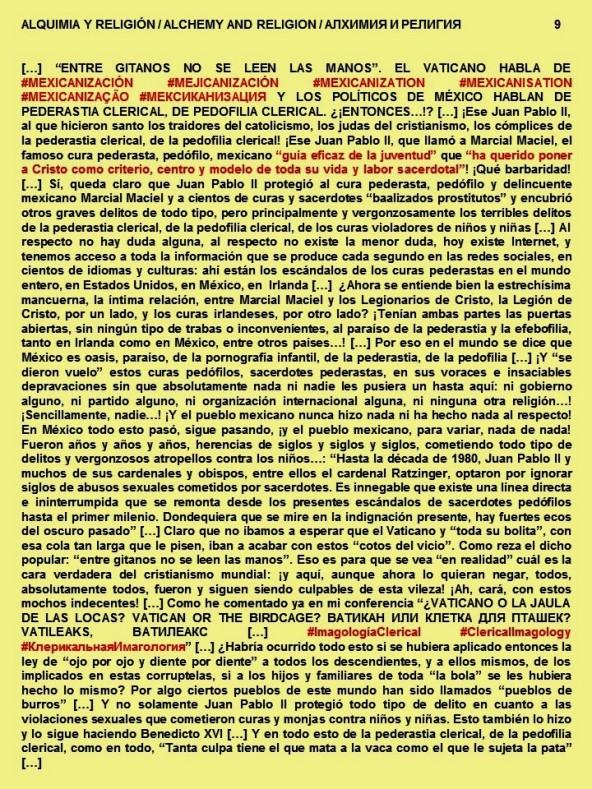 FERNANDO ANTONIO RUANO FAXAS. PAISOLOGÍA, IMAGOLOGÍA. ALQUIMIA Y RELIGIÓN, ALCHEMY AND RELIGION. JUAN PABLO II, BENEDICTO XVI, FRANCISCO, VATICANO, MACIEL, LEGIONARIOS DE CRISTO, PEDERASTIA, PEDOFILIA