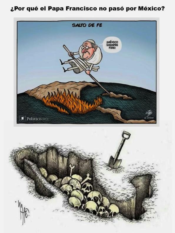 IMAGOLOGÍA, PAISOLOGÍA. Por qué el Papa Francisco no pasó por México. Corrupción, impunidad, muertos, desaparecidos, elecciones, narco, narcotráfico, migración, migrantes, inmigración, inmigrantes, Trump, Ayotzinapa