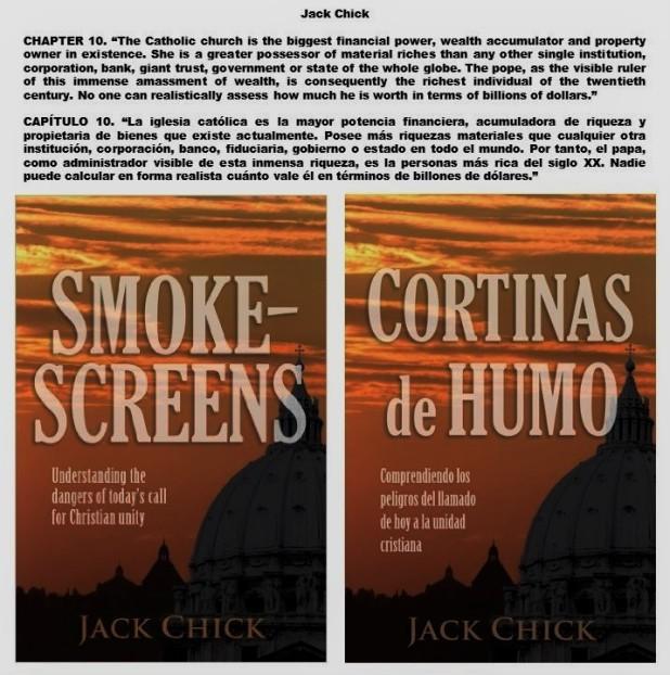 JACK CHICK, SMOKESCREENS, CORTINAS DE HUMO. VATICANO, VATICAN, ВАТИКАН. PAPA, POPE, ПАПА. CORRUPCIÓN, CORRUPTION, КОРРУПЦИЯ