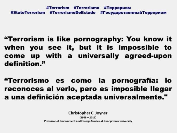 FERNANDO ANTONIO RUANO FAXAS. IMAGOLOGÍA, PAISOLOGÍA. Christopher Joyner, Terrorism, Terrorismo, Терроризм, State Terrorism, Terrorismo de Estado, Государственный Терроризм