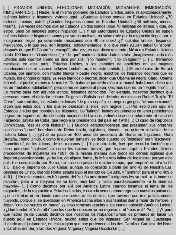 FERNANDO ANTONIO RUANO FAXAS. ESTADOS UNIDOS, MEXICO, CUBA, LATINOS, HISPANOS, ELECCIONES, IMAGOLOGÍA, PAISOLOGÍA, HISTORIA, MIGRACIÓN, MIGRANTES, INMIGRACIÓN, INMIGRANTES