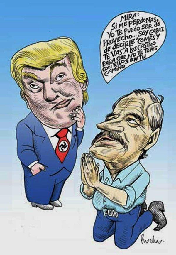 DONAL TRUMP, MÉXICO, POLITICOS, VICENTE FOX