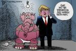 Bruce Plante Cartoon: Trump takes ahostage